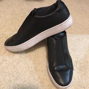 Vagabond Black Leather Slip on Sneaker Size 38